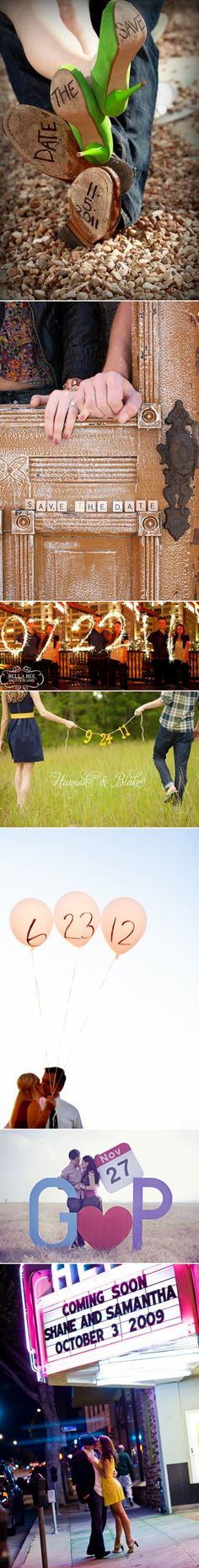 Cute save the date ideas!  could start the sparkler from the very beginning!