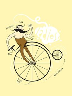 Moustache Ride. Just $12 -- 2 ft poster.