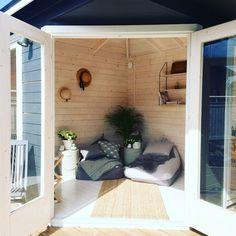 She Sheds, Garden Cottage, Divider, Garage Doors, Outdoor Decor, Room, Furniture, Home Decor, Bedroom