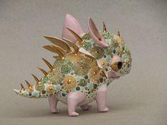 Porcelain dragon by Anya Stasenko & Slava Leontyev