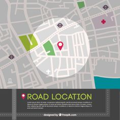 Road location map graphic Free Vector