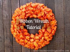 Make a ribbon wreath for the Fall... love it!