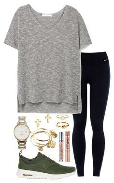 """I think I'm gonna delete polyvore this is probably my last set"" by valerienwashington on Polyvore featuring NIKE, MANGO, Kate Spade, Vera Bradley, Urban Decay, Bloomingdale's, Avanessi and Irene Neuwirth"