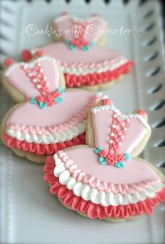 Ballerina tutu cookies from Cookies with Character