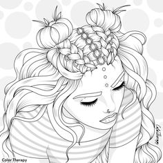 Coloring Pages For Girls, Cute Coloring Pages, Coloring Books, Colouring, Doodle Pages, Doodle Art, Girl Drawing Sketches, Art Drawings, Paper Animals