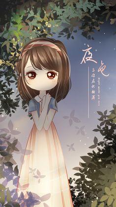 Chibi Wallpaper, Kawaii Wallpaper, Anime Chibi, Kawaii Anime, Korean Anime, Cute Love Cartoons, Girly Drawings, Kawaii Illustration, Cartoon Background