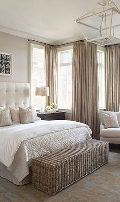 Neutral. Love the bench at the foot of the bed.