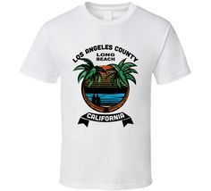 Long Beach Los Angeles County California Coastal Surfers T Shirt – California T Shop Beach T Shirts, Los Angeles County, Surfers, Long Beach, Coastal, California, Mens Tops, Shopping, Surf Girls