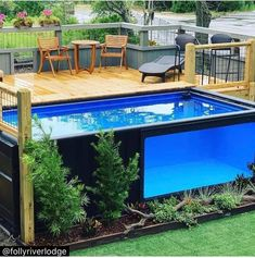 Shipping Container Swimming Pool, Shipping Container Homes, Shipping Containers, Best Above Ground Pool, In Ground Pools, Small Backyard Pools, Swimming Pools Backyard, Mod Pool, Container House Design