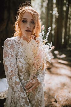 The Most Enchanting Forest Elopement Inspiration | Weddingbells Rustic Colors, Beautiful Bouquets, Elopement Inspiration, We Fall In Love, Woodland Wedding, Green Dress, Ethereal, Fairytale, The Incredibles