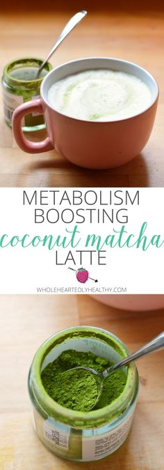 Matcha Latte You have to try this! Coconut matcha latte to boost energy and metabolismYou have to try this! Coconut matcha latte to boost energy and metabolism Yummy Drinks, Healthy Drinks, Healthy Snacks, Healthy Eating, Healthy Recipes, Tea Recipes, Cooking Recipes, Drink Recipes, Juice Recipes