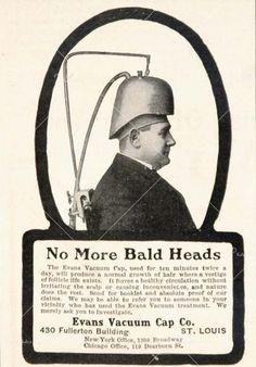 1904 Ad Baldness Hair Loss Evans Vacuum Cap