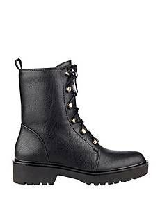 25e9a6f244 Buy G by Guess Womens Gadget Closed Toe Ankle Combat Boots