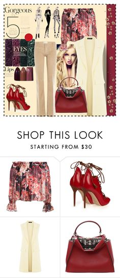 """Untitled #977"" by talatay ❤ liked on Polyvore featuring Elizabeth and James, Malone Souliers, Fendi and The Seafarer"