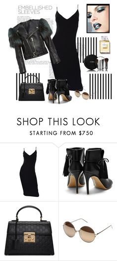 """""""*Make a Statement: Embellished Sleeves contest* - Set#7"""" by sassy-elisa ❤ liked on Polyvore featuring Forum, Michael Kors, Marc Jacobs, Rupert Sanderson, Gucci, Linda Farrow, Chanel and embellishedsleeves"""