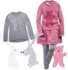 """Zestaw dla dziewczynki """"Mis-i-królik"""" Girls, Sweaters, Fashion, Toddler Girls, Moda, Daughters, Fashion Styles, Maids, Sweater"""