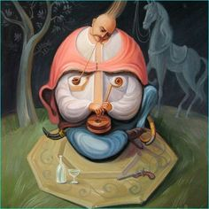 Stare at Oleg Shuplyak's painting, you may find one more illusion element that is hiding inside! Shared Stunning Illusion Paintings by Oleg Shuplyak here. Optical Illusion Paintings, Optical Illusions, Face Illusions, Oleg Shuplyak, Illusion Kunst, Famous Historical Figures, Street Art, Hidden Images, Hidden Figures