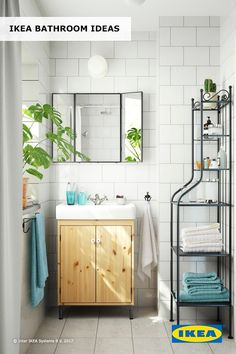 A little bit of greenery can go a long way in making your bathroom feel refreshed for spring! Whether you're looking to totally redo your bathroom or just in need of a quick refresh, get inspired by IKEA bathroom ideas.