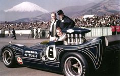 1968 – Mark Donahue's (#6) Penske Racing, TRACO Powered Racer Getting Ready for at Mt. Fuji, Japan