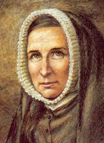 """St. Rose Phillipine Duchesne. """"We cultivate a very small field for Christ, but we love it knowing that God does not require great achievement but a heart that holds nothing back for self."""" Feast day Nov 18"""