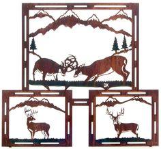 Mountain Bucks Deer Metal Wall Art