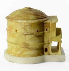 Large Colored Alabaster Grand Tour Souvenir Model of the Pantheon, Rome | From a unique collection of antique and modern architectural models at https://www.1stdibs.com/furniture/more-furniture-collectibles/architectural-models/