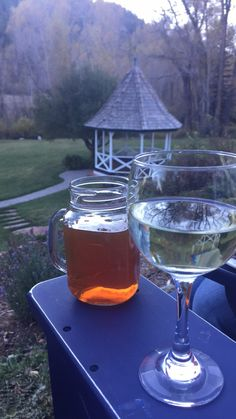 Happy hour at Antlers on the Creek B&B