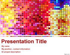 Fondo Colorido para PowerPoint es un diseño elegante para presentaciones de Power Point gratis que puede ser utilizado por ejemplo en presentaciones donde necesite información de pixeles en PowerPoint o un diseño colorido