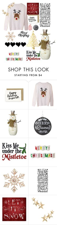 """""""Merry XMAS!!"""" by kennycoptero on Polyvore featuring Home Decorators Collection, Meri Meri, John Lewis, Oliver Gal Artist Co. and Kenneth Jay Lane"""