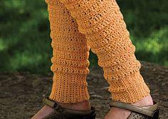 Crochet Leg Warmers--stylish and warm. Free Leg Warmers Crochet Pattern: Peggy's Leg Warmers by Mary Beth Temple