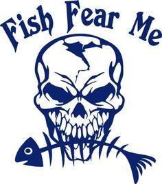 Fish-Fear-Me-Fishing-Skull-Skeleton-Car-Boat-Truck-Window-Vinyl-Decal-Sticker