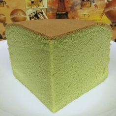Pandan Sponge Cake using Chiffon (Cooked dough) recipe adapted from Ennety's Orange Chiffon Ingredients: 160g Cake flour 1.5 tsp Clabbergirl double acting baking powder (or 2 tsp bakin…