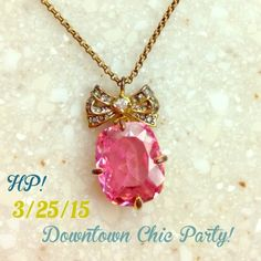 SALE⚜HPJuicy Couture Beautiful Juicy Couture pink drop necklace. Some tarnishing. No longer have the box. ☀️                                                                        Host Pick 3/25/15 Downtown Chic Party! Juicy Couture Jewelry Necklaces