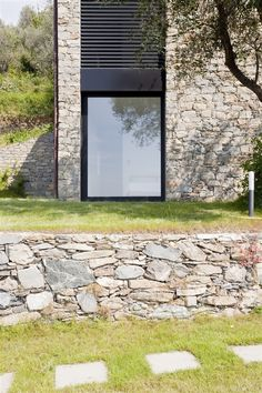 Contadina House: farmhouse restoration in Cinque Terre, Italy - Modern Architecture Architecture Details, Modern Architecture, Residential Architecture, Black Window Frames, Old Farm Houses, Small Houses, Country Houses, Modern Houses, Brick And Stone