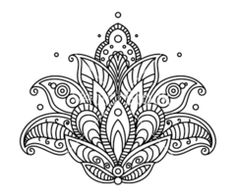 mehndi lotus flower - Google Search