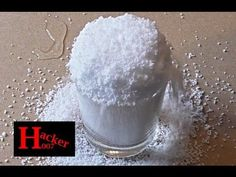 (86) How to make instant snow in few seconds. Insta-Snow Powder by super absorbent polymer | Hacker007 - YouTube