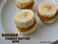 Banana and peanut butter bits