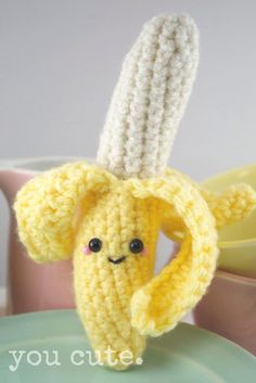 Crocheted banana