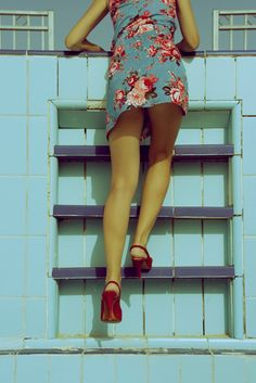 #YuliaGorodinski #photography #art #nude #sensuality #womanity #light #summer #sunlight #red #shoes #flowers