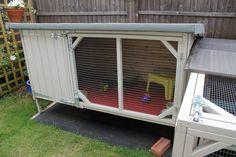 Handmade Rabbit hutch. Amazing handmade and painted by Boyles Pet Housing
