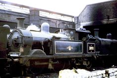 """SR Wainwright """"H"""" class 0-4-4T No. 31193. At Tonbridge Shed (73J), on the 6th March 1960. Photo by Ron Bowyer."""