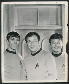 1969 Original Photo STAR TREK CAST – Spock, Kirk and McCoy !