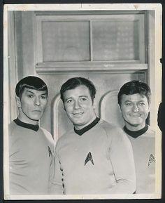 1969 Original Photo STAR TREK CAST – Spock, Kirk and McCoy !