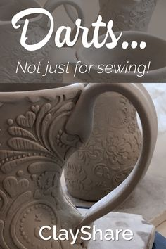 Learn how to use darts to create gorgeous curves in your hand built pottery. Follow ClayShare for more great pottery tutorials, ideas, tips and techniques.