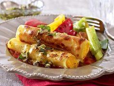 Kürbis-Cannelloni mit Röstgemüse