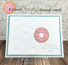 Cricut Artistry donut card