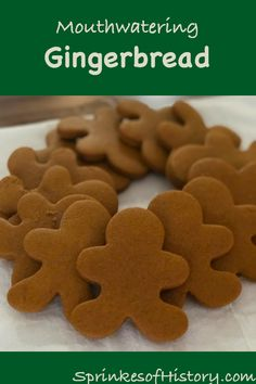 Gingerbread Cookies Gingerbread is one of our favorite cookies to snack on at Christmas, learn how to bake them perfectly and also the sweet history they have. Best Sugar Cookie Recipe, Ginger Bread Cookies Recipe, Ginger Cookies, Easy Cookie Recipes, Easy Gingerbread Cookies, Christmas Sugar Cookies, Christmas Sweets, Gingerbread Recipes, Holiday Baking