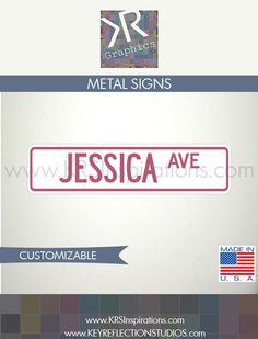 Personalized Street Sign Custom Colored $14.95 USD