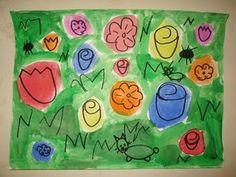 Warhol Flower's--1st grade