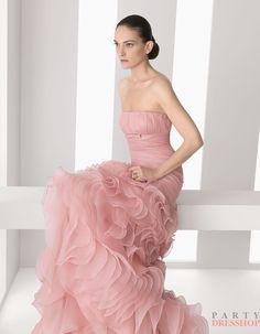 www.partydresshop.com $209 A Line Dark Pink  Rosa Clara Cocktail Dresses MRSD035